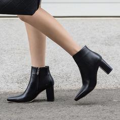 Dla kobiet PU Obcas Slupek Czólenka Kozaki Botki Z Zamek błyskawiczny obuwie