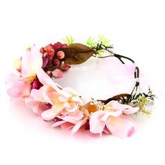 Särskilda Tyg/Plast Blommor & Fjädrar
