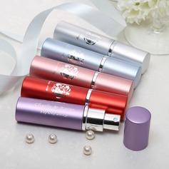 Personalizado Diseño de la flor Aleación de zinc Botella de perfume (Juego de 4 color mixto)