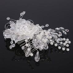 Elegant Crystal/Imiteret Pearl/Blonder Kamme & Hårspænder (Sælges i et enkelt stykke) (042130221)