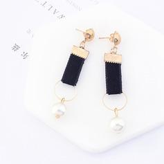 Vackra Och Fauxen Pärla koppar Silke med Oäkta Pearl Damer' Mode örhängen