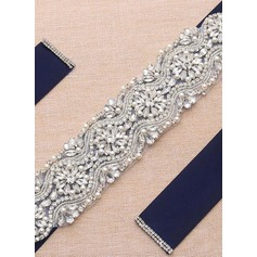 Elegant Satin Sash With Rhinestones (015200412)