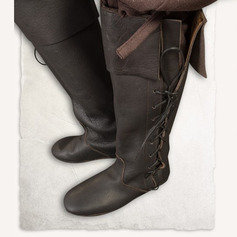 Kvinnor Konstläder Flat Heel Knäkickkängor med Bandage skor