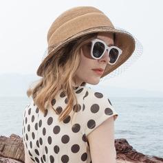 Damen Einfache/Fantasie Papyrus mit Tüll Strand / Sonne Hüte