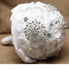 Pure Round Satin Bridal Bouquets -
