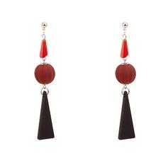 Shining Acrylic Copper Fashion Earrings
