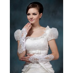 Elastic Satin Elbow Length Bridal Gloves (014020519)