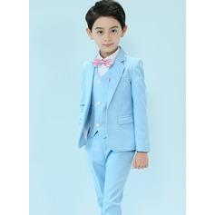 Boys 5 Pieces Elegant Ring Bearer Suits /Page Boy Suits With Jacket Shirt Vest Pants Bow Tie