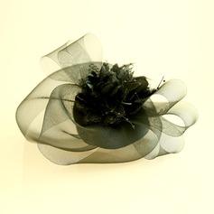 Damer' Vackra Och Netto garn/Siden blomma Fascinators