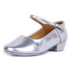 Crianças Couro Saltos Bombas sapatos de personagem com Fivela Sapatos de dança