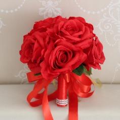 Håndbundet Silke Blomst Brude Buketter/Dekorationer (Sælges i et enkelt stykke) - Brude Buketter