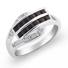 Pretty Copper/Zircon/Platinum Plated Ladies' Rings