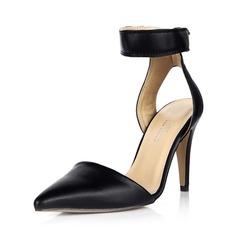 De mujer Cuero Tacón stilettos Salón Cerrados Solo correa zapatos