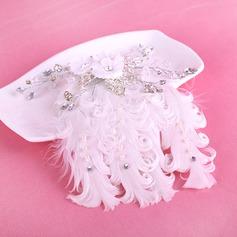 Exquis Strass/Alliage/De faux pearl/Feather Fleurs et plumes