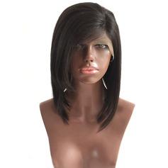 4A non remy Tout droit Cheveux humains Perruques avant en dentelle 180g