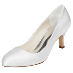 Women's Silk Like Satin Stiletto Heel Pumps With Others (047114313)