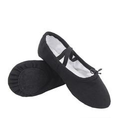 Dámské Plátno Byty Baletní Taneční boty