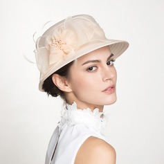 Damen Schöne Polyester mit Blume Bowler/Kapotthut