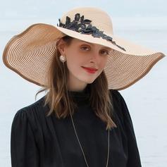 Señoras' Glamorosa/Estilo clásico/Elegante/Simple/Niza poliéster Sombreros Playa / Sol