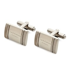 Personalized Special Stainless Steel Cufflinks (Set of 2) (Personalized information is only English)
