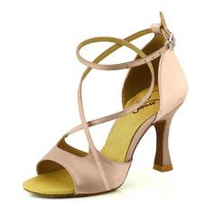 Vrouwen Satijn Hakken Sandalen Pumps Latijn Dansschoenen