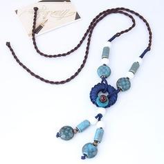 Nice Legering Keramik Flätade Rep Kvinnor Mode Halsband (Säljs i ett enda stycke)