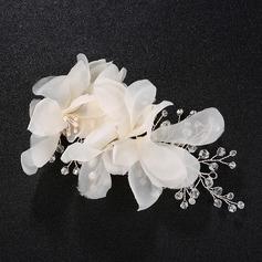 Moda Flores de seda Flores y plumas (Se venden en una sola pieza)