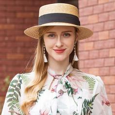 Damer' Unik Flätad Sugrör Diskett Hat