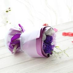 Adorável Rosa Sabonetes com Fitas