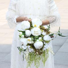 Hübsche Kaskade Seide Blumen Brautsträuße - Brautsträuße