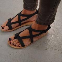 Kvinnor Mocka Flat Heel Sandaler Platta Skor / Fritidsskor med Spänne skor