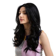 Ondulato allentato Sintetico Parrucche dei capelli umani
