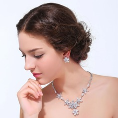 Vintage Zircon With Cubic Zirconia Ladies' Jewelry Sets (011125316)