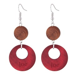 Personalized Alloy/Wooden Fashion Earrings
