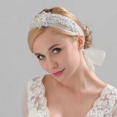 Damen Hübsche Satin Stirnbänder mit Strass (In Einem Stück Verkauft)