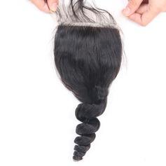 """4""""*4"""" 4A En vrac les cheveux humains Fermeture (Vendu en une seule pièce)"""