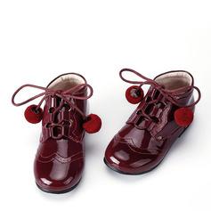 Girl's Enkel Laarzen imitatieleer Flat Heel Flats Laarzen met Vastrijgen