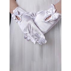 Satin Handgelenk Länge Braut Handschuhe
