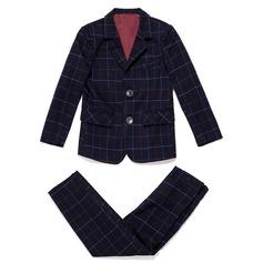 Garçons 2 Pièces Plaid Costumes pour les porteurs de bague /Costumes De Garçon De Page avec Veste Un pantalon