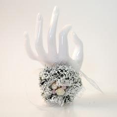 Style Classique Attaché à la main D'emulational plante succulente/Perle d'imitation Corsage du poignet -