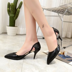 Kvinnor PU Kitten Heel Pumps skor