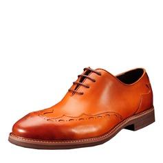 Men's Real Leather Lace-up Dress Shoes Men's Oxfords