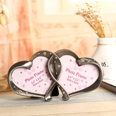 Heart Shaped Alloy Photo Frames With Rhinestone