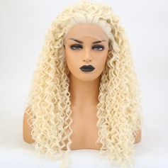 Curly Syntetisk Lace Front Parykar (219179130)