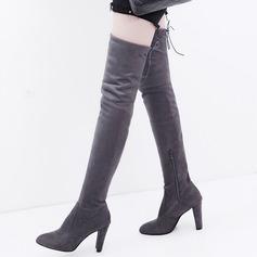 Kvinder Ruskind Stor Hæl Støvler sko