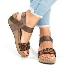 Naisten PU Wedge heel Sandaalit Kiilat jossa Eläinten Tulosta kengät