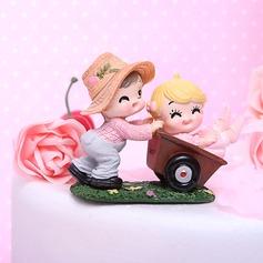 Jardim Diversão Resina Aniversário Decorações de bolos