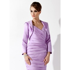Long Sleeve Satin Special Occasion Wrap (013012309)