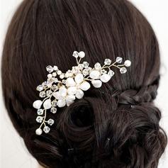 Damen Hübsche Legierung/Faux-Perlen Kämme und Haarspangen