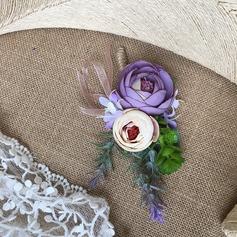 Redondo Cuerda de lino Boutonniere (vendido en una sola pieza) -